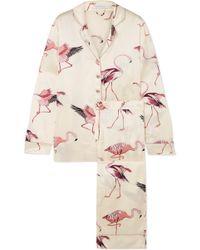 Olivia Von Halle - Lila Printed Silk-satin Pyjama Set - Lyst