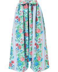Emilia Wickstead - Evelyn Floral-print Cloqué Wrap Skirt - Lyst