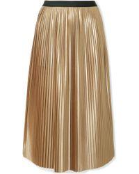 By Malene Birger - Verlano Pleated Satin Midi Skirt - Lyst