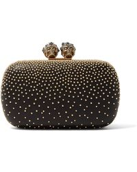 Alexander McQueen - Queen & King Embellished Leather Clutch - Lyst