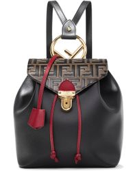 Fendi - Embossed And Textured-leather Backpack - Lyst