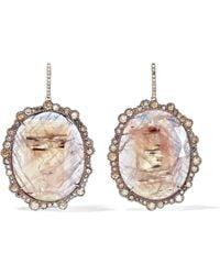 Kimberly Mcdonald - 18-karat Rose Gold, Sapphire And Diamond Earrings - Lyst