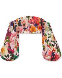 Cushnie et Ochs - Carlita Cropped Off-the-shoulder Floral-print Cady Top - Lyst