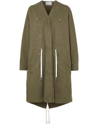 T By Alexander Wang | Cotton-twill Parka | Lyst