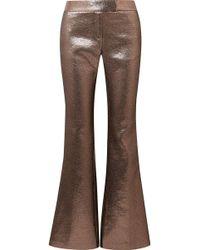 Rachel Zoe - Bruno Grosgrain-trimmed Metallic Jacquard Flared Trousers - Lyst