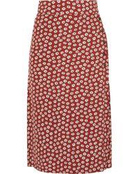 Faithfull The Brand - Joy Floral-print Crepe Midi Skirt - Lyst