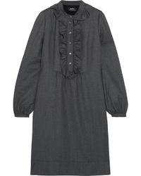 A.P.C. - Anita Ruffle-trimmed Wool Dress - Lyst