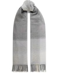 Johnstons - Ombré Checked Cashmere-twill Scarf - Lyst