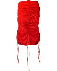 Marques'Almeida - Ruched Voile Midi Skirt - Lyst