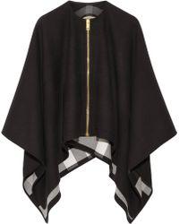 Burberry - Asymmetric Merino Wool Poncho - Lyst