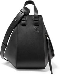Loewe - Hammock Small Textured-leather Shoulder Bag - Lyst