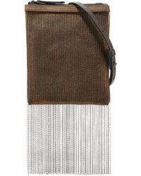 Brunello Cucinelli - Beaded Metallic Leather Shoulder Bag - Lyst