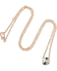 Pomellato - Nudo 18-karat Rose And White Gold Topaz Necklace - Lyst