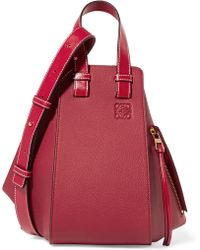 Loewe - Hammock Textured-leather Shoulder Bag - Lyst