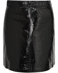 Vanessa Bruno - Juna Patent-leather Mini Skirt - Lyst