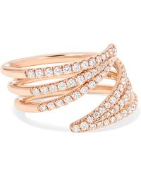 Melissa Kaye - Cristina 18-karat Rose Gold Diamond Ring Rose Gold 7 - Lyst