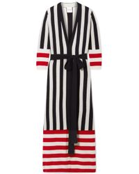 Madeleine Thompson - Ophelia Belted Striped Cashmere Cardigan - Lyst