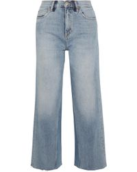 M.i.h Jeans - Caron Cropped High-rise Wide-leg Jeans - Lyst