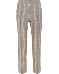 Maje - Checked Twill Tapered Pants - Lyst