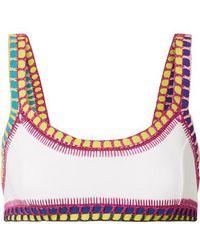 KIINI - Yaz Crochet-trimmed Bikini Top - Lyst