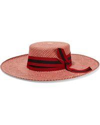 Sensi Studio - Grosgrain-trimmed Toquilla Straw Hat - Lyst