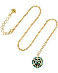 Amrapali - 18-karat Gold Enamel Necklace - Lyst