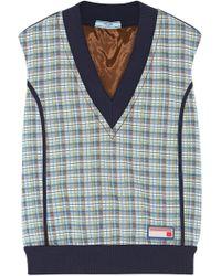 Prada - Checked Jacquard-knit Sweater - Lyst