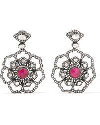 Amrapali - 18-karat Gold, Diamond And Ruby Earrings - Lyst
