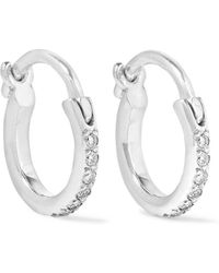 Ileana Makri - 18-karat White Gold Diamond Hoop Earrings - Lyst