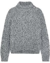 Vince - Cable-knit Wool-blend Turtleneck Jumper - Lyst