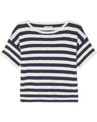 Madewell - Striped Cotton-blend T-shirt - Lyst