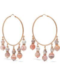 Carolina Bucci - Recharmed 18-karat Rose Gold Agate Hoop Earrings - Lyst