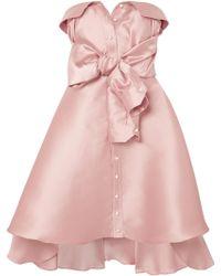 Alexis Mabille - Tie-detailed Faille Mini Dress - Lyst
