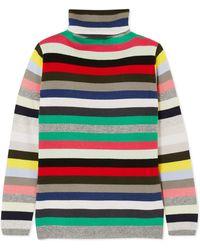 Allude - Striped Cashmere Turtleneck Jumper - Lyst