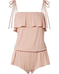 Eberjey - Ivy Ruffled Stretch-modal Jersey Playsuit - Lyst