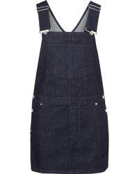 Givenchy - Printed Denim Mini Dress - Lyst