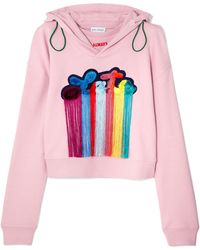 Mira Mikati - Tasselled Embroidered Cotton-jersey Hooded Top - Lyst