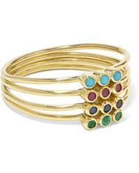 Jennifer Meyer - 18-karat Gold Multi-stone Ring Gold 6 - Lyst