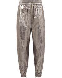 Jason Wu - Metallic Foiled Shell Track Trousers - Lyst