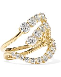 Melissa Kaye - Aria Skye 18-karat Gold Diamond Ring - Lyst