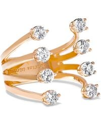 Delfina Delettrez - 18-karat Rose Gold Diamond Ring - Lyst