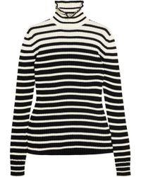 MSGM - Striped Wool-blend Jumper - Lyst