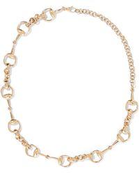 Gucci - 18-karat Gold Horsebit Necklace - Lyst