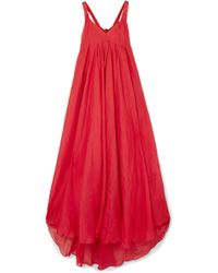 Three Graces London - Janie Cutout Ramie Maxi Dress - Lyst