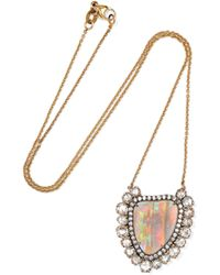 Kimberly Mcdonald - 18-karat Rose Gold, Opal And Diamond Necklace Rose Gold One Size - Lyst