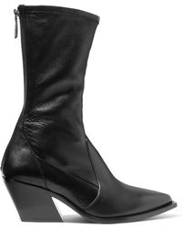 Givenchy - Leather Sock Boots - Lyst