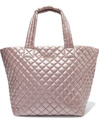 MZ Wallace - Metro Medium Metallic Quilted Shell Tote - Lyst