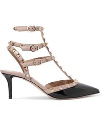 Valentino - Garavani The Rockstud Patent-leather Court Shoes - Lyst