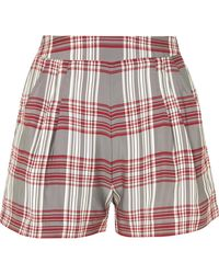 Markus Lupfer - Checked Satin-twill Shorts - Lyst