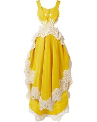 Rosie Assoulin - Just Let Me Live Guipure Lace-trimmed Silk-faille Gown - Lyst